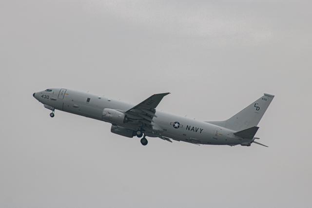 ゆーすきんさんが、厚木飛行場で撮影したアメリカ海軍 P-8A (737-8FV)の航空フォト(飛行機 写真・画像)