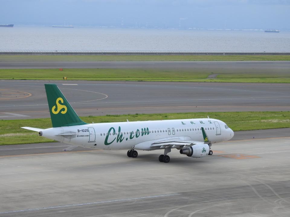 musaeru25cさんの春秋航空 Airbus A320 (B-1025) 航空フォト