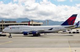 M.Chihara_1さんが、ダニエル・K・イノウエ国際空港で撮影したデルタ航空 747-451の航空フォト(飛行機 写真・画像)
