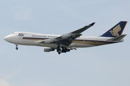 Tomo-Papaさんが、シンガポール・チャンギ国際空港で撮影したシンガポール航空カーゴ 747-412F/SCDの航空フォト(飛行機 写真・画像)