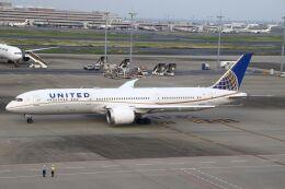 hiroki_h2さんが、羽田空港で撮影したユナイテッド航空 787-9の航空フォト(飛行機 写真・画像)
