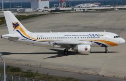 キイロイトリさんが、関西国際空港で撮影したミャンマー国際航空 A319-111の航空フォト(飛行機 写真・画像)