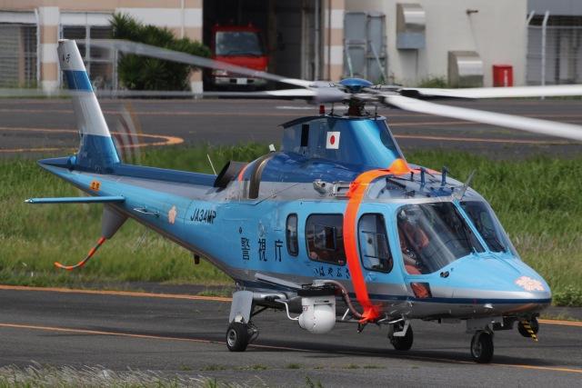 きりしまさんが、東京ヘリポートで撮影した警視庁 A109E Powerの航空フォト(飛行機 写真・画像)