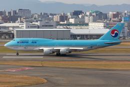 (新)ふぁんとむ改さんが、福岡空港で撮影した大韓航空 747-4B5の航空フォト(飛行機 写真・画像)