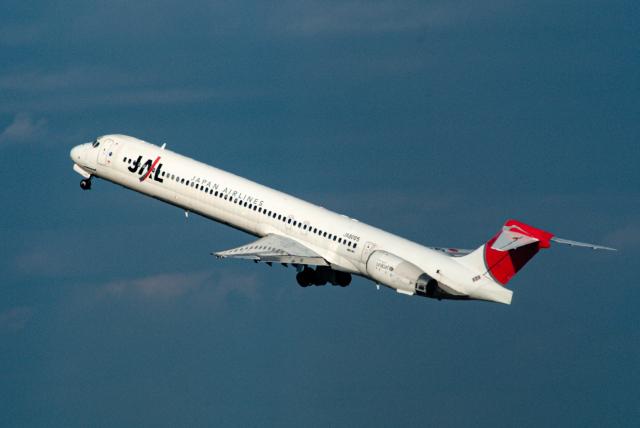リゾッチャ(紫)さんが、羽田空港で撮影した日本航空 MD-90-30の航空フォト(飛行機 写真・画像)