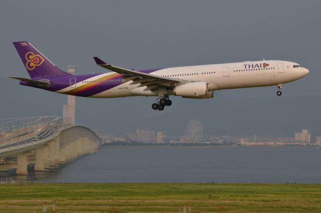 Deepさんが、関西国際空港で撮影したタイ国際航空 A330-343Xの航空フォト(飛行機 写真・画像)