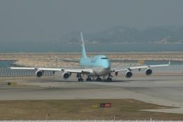 磐城さんが、香港国際空港で撮影した大韓航空 747-4B5の航空フォト(飛行機 写真・画像)