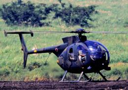 チャーリーマイクさんが、東富士演習場で撮影した陸上自衛隊 OH-6Dの航空フォト(飛行機 写真・画像)
