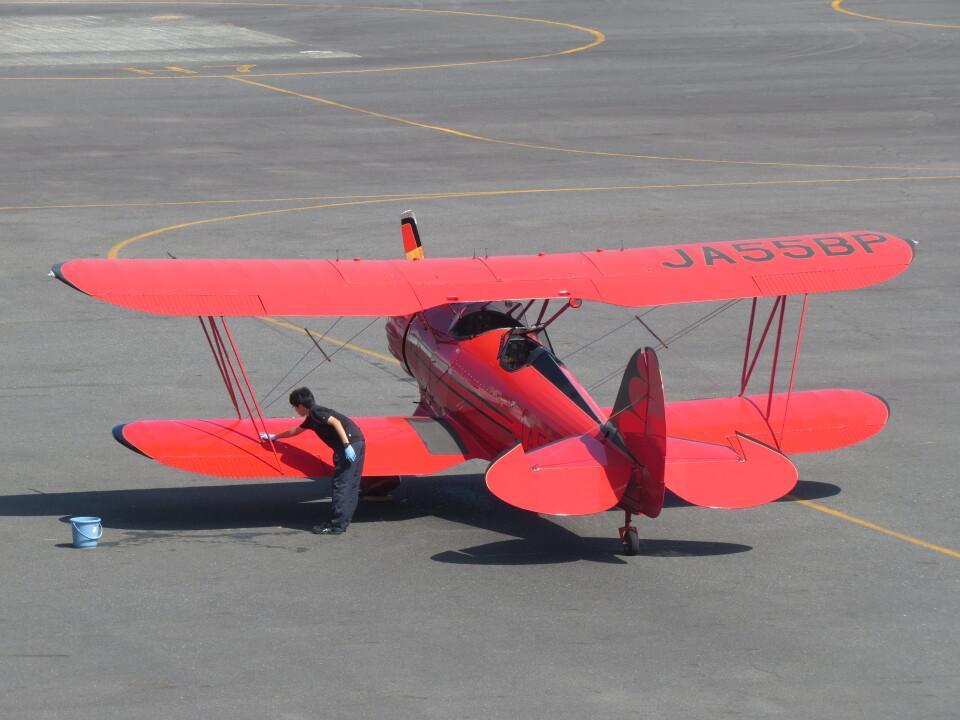F.YUKIHIDEさんの日本個人所有 Waco F (JA55BP) 航空フォト