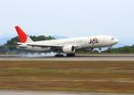ふじいあきらさんが、広島空港で撮影した日本航空 777-246/ERの航空フォト(飛行機 写真・画像)