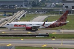 磐城さんが、クアラルンプール国際空港で撮影したマリンド・エア 737-8GPの航空フォト(飛行機 写真・画像)