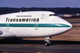 パール大山さんが、横田基地で撮影したトランスアメリカ・エアラインズ 747-271C/SCDの航空フォト(飛行機 写真・画像)