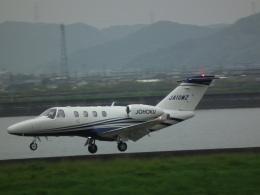 ヒコーキグモさんが、岡南飛行場で撮影した日本法人所有 525 Citation M2の航空フォト(飛行機 写真・画像)