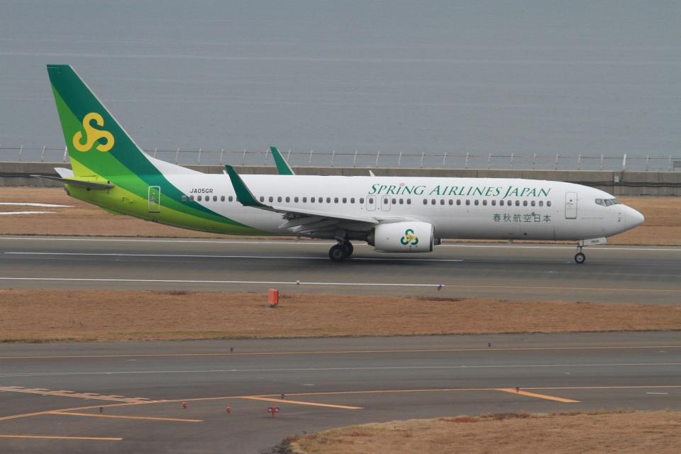 rjジジィさんの春秋航空日本 Boeing 737-800 (JA05GR) 航空フォト