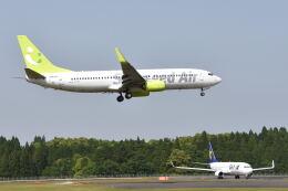 ワイエスさんが、鹿児島空港で撮影したソラシド エア 737-86Nの航空フォト(飛行機 写真・画像)