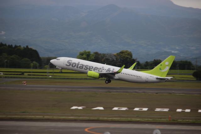 kwnbさんが、鹿児島空港で撮影したソラシド エア 737-86Nの航空フォト(飛行機 写真・画像)