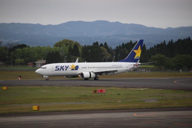 kwnbさんが、鹿児島空港で撮影したスカイマーク 737-86Nの航空フォト(飛行機 写真・画像)