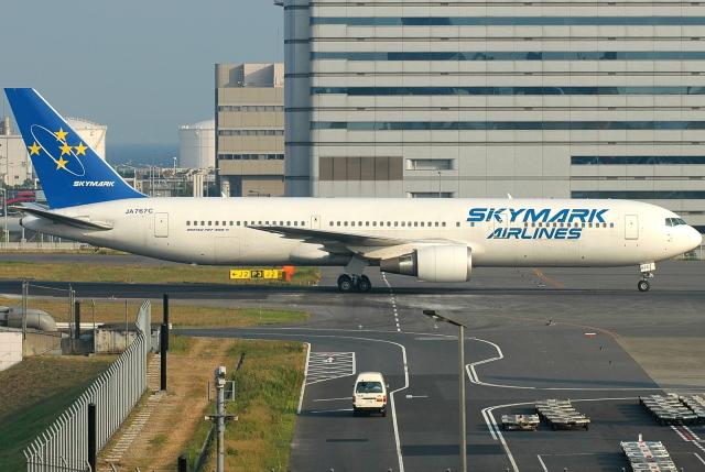 jun☆さんが、羽田空港で撮影したスカイマーク 767-3Q8/ERの航空フォト(飛行機 写真・画像)