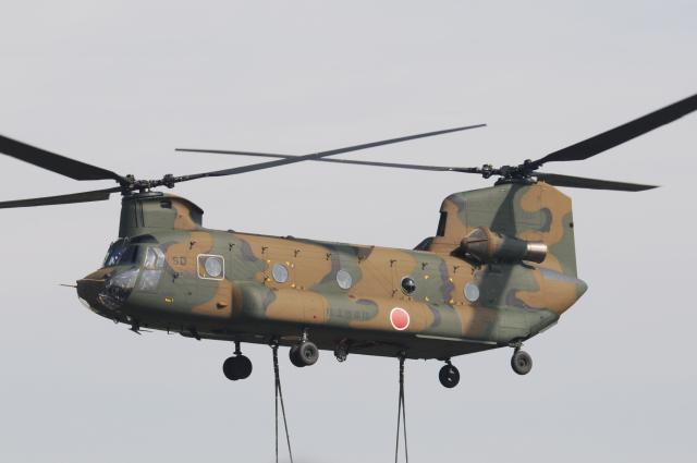 チャーリーマイクさんが、明野駐屯地で撮影した陸上自衛隊 CH-47Jの航空フォト(飛行機 写真・画像)