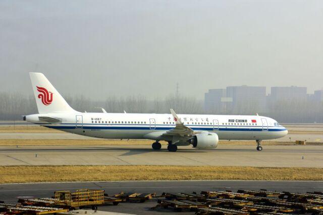 まいけるさんが、北京首都国際空港で撮影した中国国際航空 A321-271Nの航空フォト(飛行機 写真・画像)