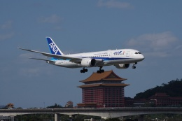 磐城さんが、台北松山空港で撮影した全日空 787-8 Dreamlinerの航空フォト(飛行機 写真・画像)