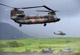 チャーリーマイクさんが、東富士演習場で撮影した陸上自衛隊 CH-47JAの航空フォト(飛行機 写真・画像)
