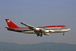 Gambardierさんが、関西国際空港で撮影したノースウエスト航空 747-451の航空フォト(飛行機 写真・画像)