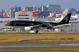 ansett747さんが、福岡空港で撮影したスターフライヤー A320-214の航空フォト(飛行機 写真・画像)