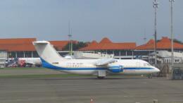 twinengineさんが、スカルノハッタ国際空港で撮影したトランスヌサ・アヴィエーション・マンディリ BAe-146-200の航空フォト(飛行機 写真・画像)
