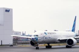 sakaki787さんが、羽田空港で撮影したガルーダ・インドネシア航空 777-3U3/ERの航空フォト(飛行機 写真・画像)