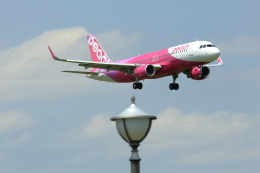 おっしーさんが、成田国際空港で撮影したピーチ A320-214の航空フォト(飛行機 写真・画像)