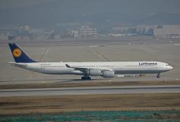 tsubameさんが、仁川国際空港で撮影したルフトハンザドイツ航空 A340-642の航空フォト(飛行機 写真・画像)