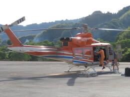 ランチパッドさんが、静岡ヘリポートで撮影した新日本ヘリコプター 412EPの航空フォト(飛行機 写真・画像)