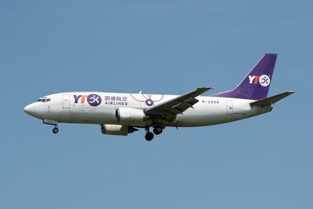 @たかひろさんが、成田国際空港で撮影したYTOカーゴ・エアラインズ 737-36Q(SF)の航空フォト(飛行機 写真・画像)
