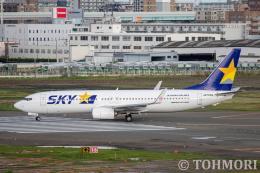 遠森一郎さんが、福岡空港で撮影したスカイマーク 737-8ALの航空フォト(飛行機 写真・画像)