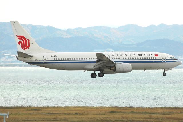 jun☆さんが、関西国際空港で撮影した中国国際航空 737-8Z0の航空フォト(飛行機 写真・画像)
