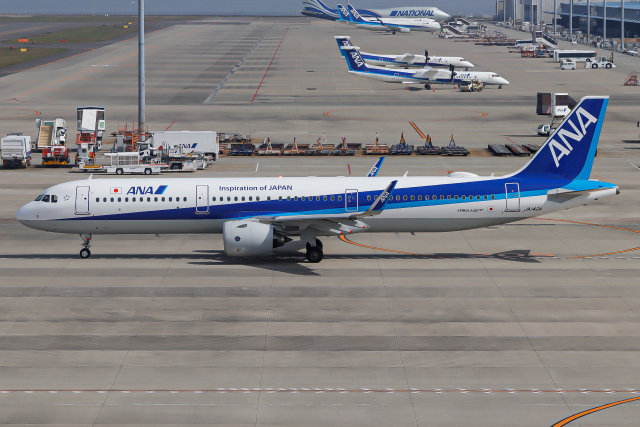 A.Tさんが、中部国際空港で撮影した全日空 A321-272Nの航空フォト(飛行機 写真・画像)