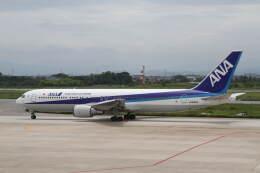 プルシアンブルーさんが、米子空港で撮影した全日空 767-381の航空フォト(飛行機 写真・画像)