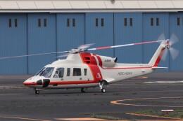 KAZFLYERさんが、東京ヘリポートで撮影した朝日航洋 S-76Dの航空フォト(飛行機 写真・画像)