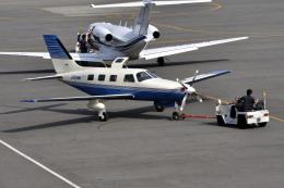 Gambardierさんが、岡南飛行場で撮影した日本法人所有 PA-46-350P Malibu Mirageの航空フォト(飛行機 写真・画像)