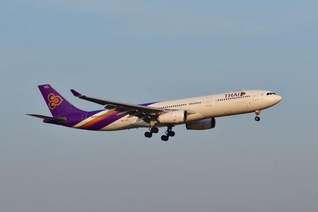 ポン太さんが、スワンナプーム国際空港で撮影したタイ国際航空 A330-343Xの航空フォト(飛行機 写真・画像)