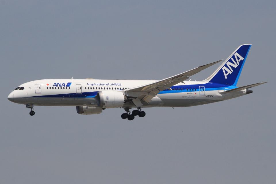 キイロイトリさんの全日空 Boeing 787-8 Dreamliner (JA815A) 航空フォト