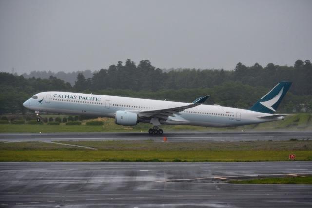 あまるめさんが、成田国際空港で撮影したキャセイパシフィック航空 A350-1041の航空フォト(飛行機 写真・画像)