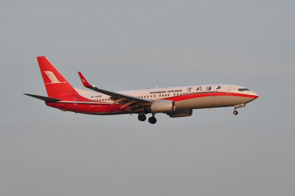 ポン太さんの上海航空 Boeing 737-800 (B-1448) 航空フォト