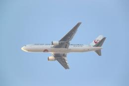 saitama_syさんが、荒川土手 岩淵水門付近で撮影した日本航空 767-346/ERの航空フォト(飛行機 写真・画像)