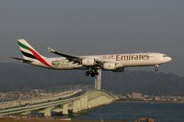 hiroki_h2さんが、関西国際空港で撮影したエミレーツ航空 A340-541の航空フォト(飛行機 写真・画像)