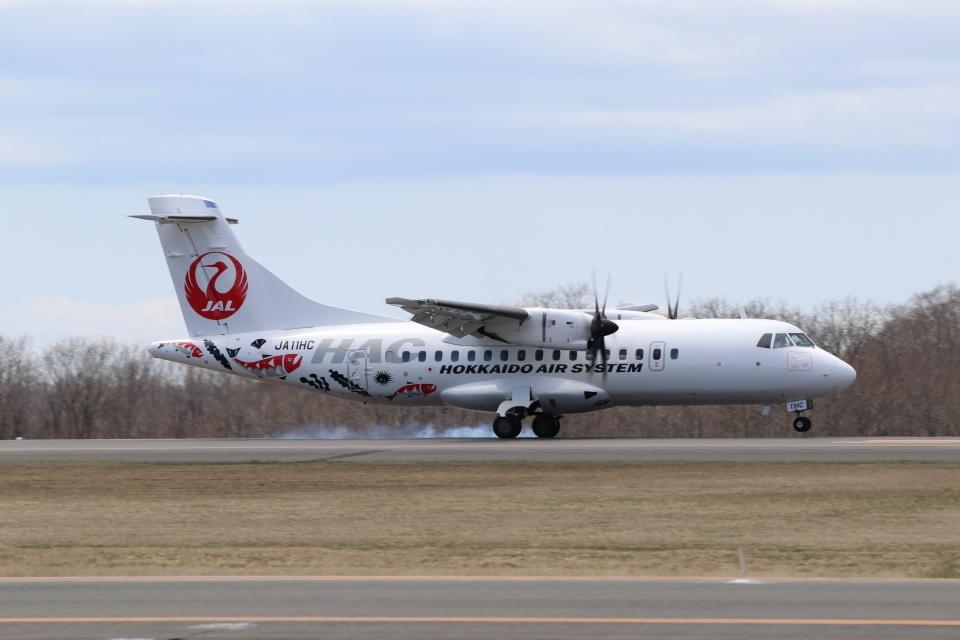磐城さんの北海道エアシステム ATR 42 (JA11HC) 航空フォト