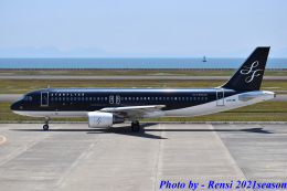 れんしさんが、山口宇部空港で撮影したスターフライヤー A320-214の航空フォト(飛行機 写真・画像)
