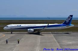 れんしさんが、山口宇部空港で撮影した全日空 A321-272Nの航空フォト(飛行機 写真・画像)