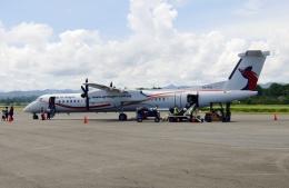 TA27さんが、マダン空港で撮影したニューギニア航空 DHC-8-402Q Dash 8の航空フォト(飛行機 写真・画像)